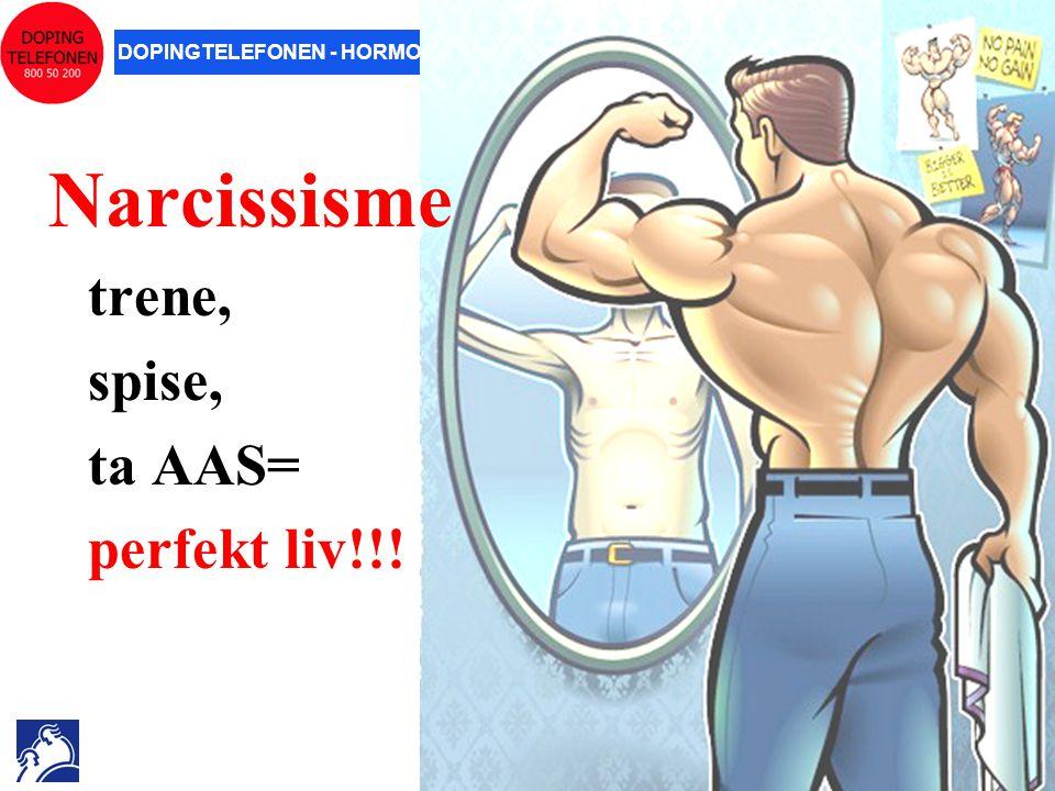 Narcissisme trene, spise, ta AAS= perfekt liv!!! 22