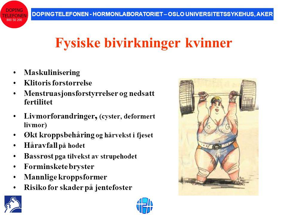 Fysiske bivirkninger kvinner