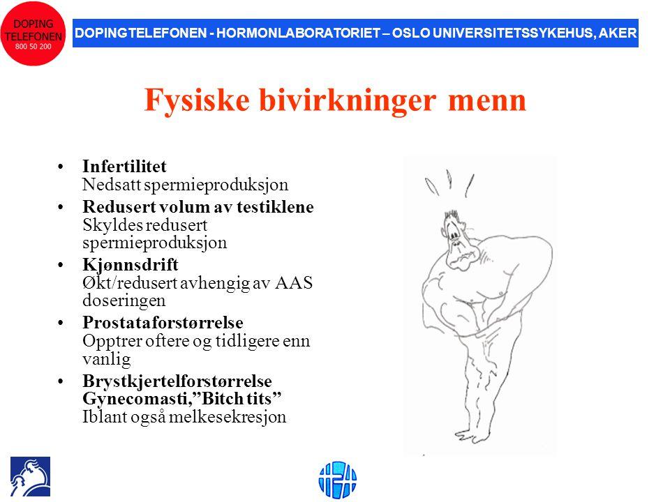 Fysiske bivirkninger menn