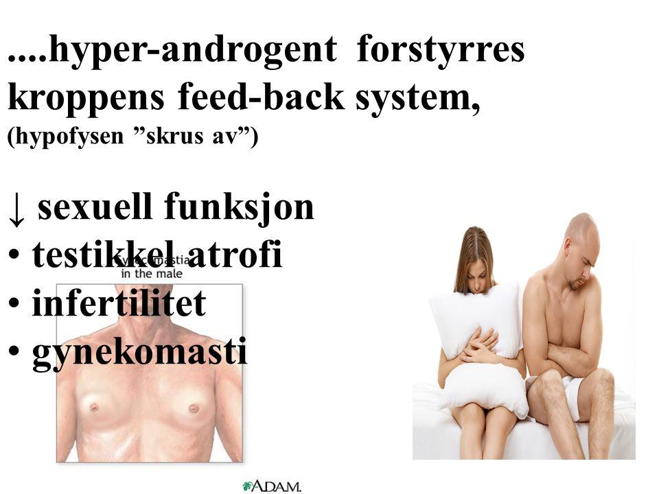 ....hyper-androgent forstyrres kroppens feed-back system,