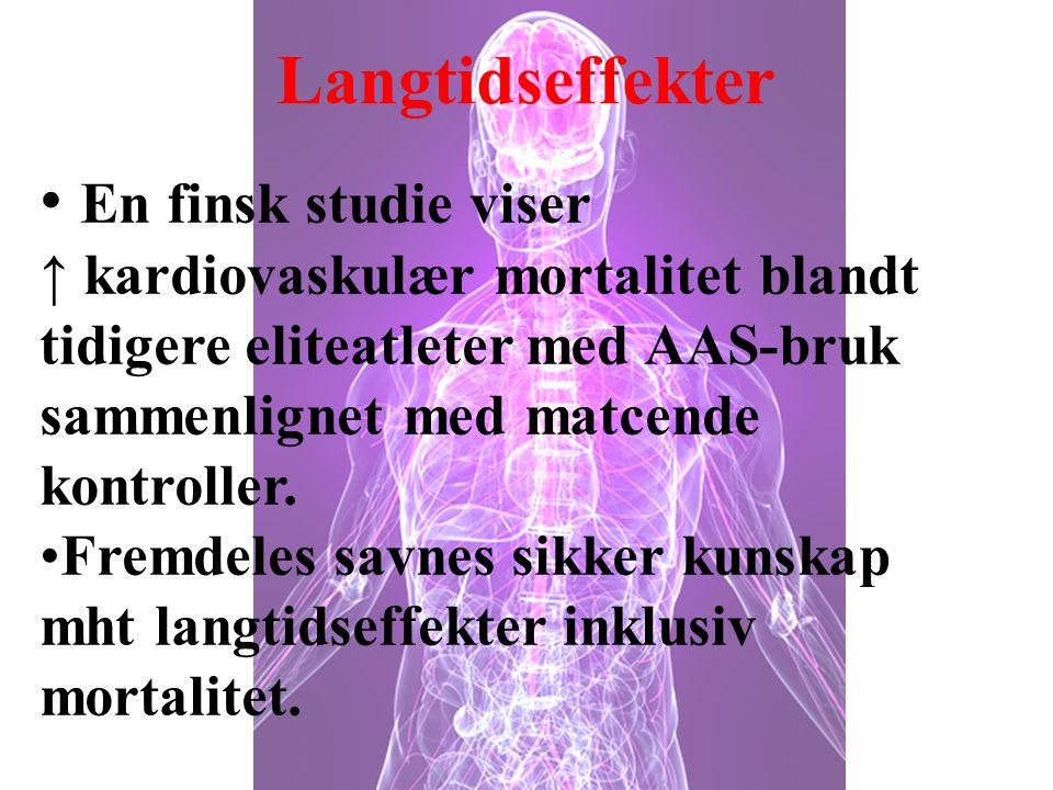 Langtidseffekter En finsk studie viser