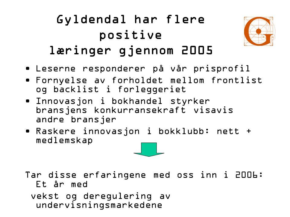 Gyldendal har flere positive læringer gjennom 2005