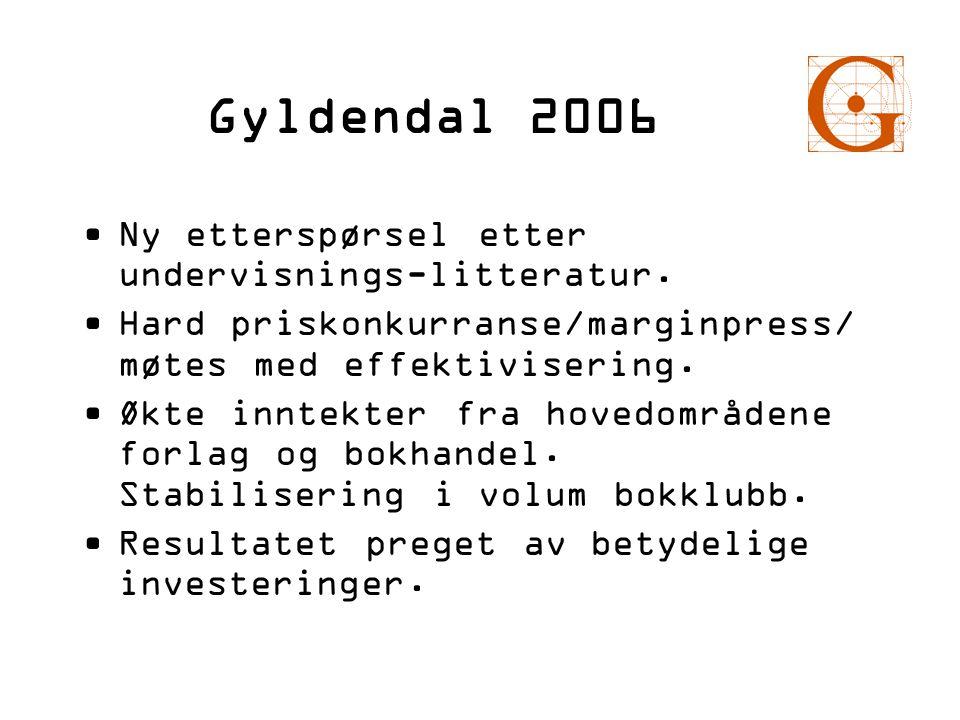 Gyldendal 2006 Ny etterspørsel etter undervisnings-litteratur.