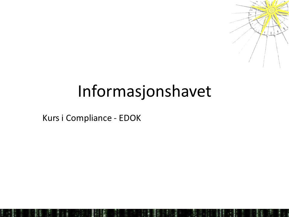 Kurs i Compliance - EDOK