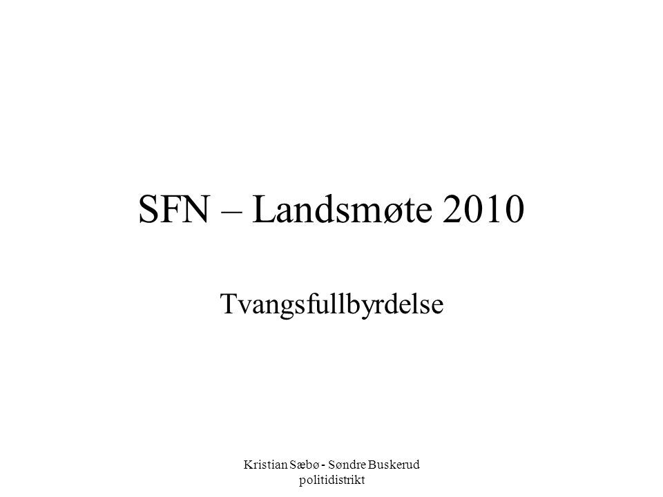 Kristian Sæbø - Søndre Buskerud politidistrikt