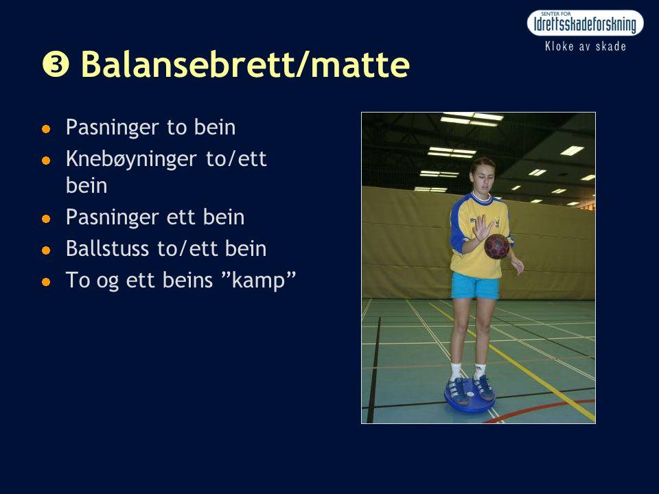 Balansebrett/matte Pasninger to bein Knebøyninger to/ett bein