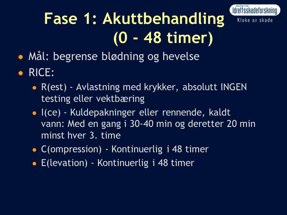 Fase 1: Akuttbehandling (0 - 48 timer)
