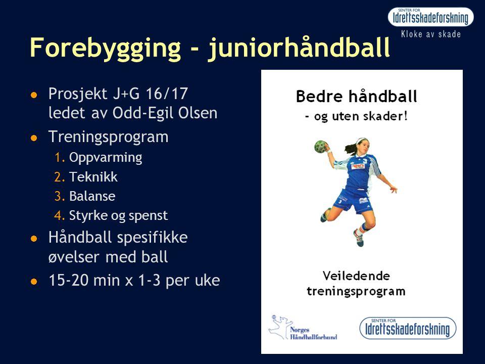 Forebygging - juniorhåndball