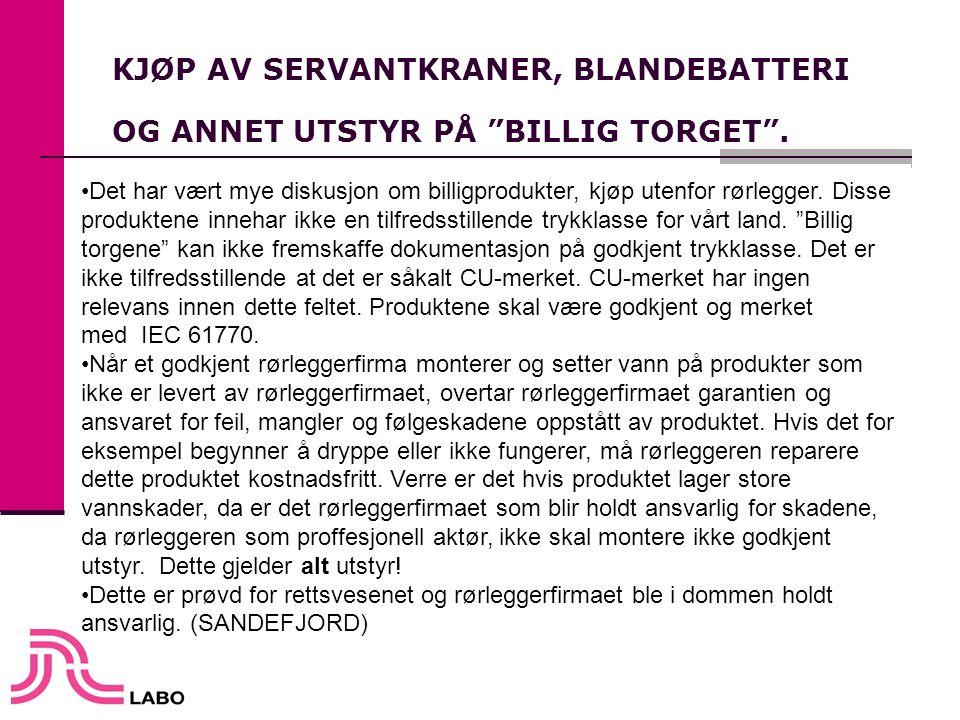 KJØP AV SERVANTKRANER, BLANDEBATTERI OG ANNET UTSTYR PÅ BILLIG TORGET .