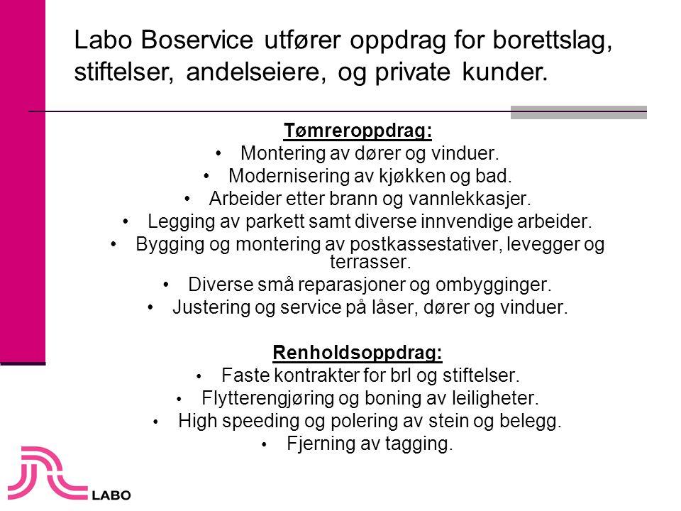 Labo Boservice utfører oppdrag for borettslag,