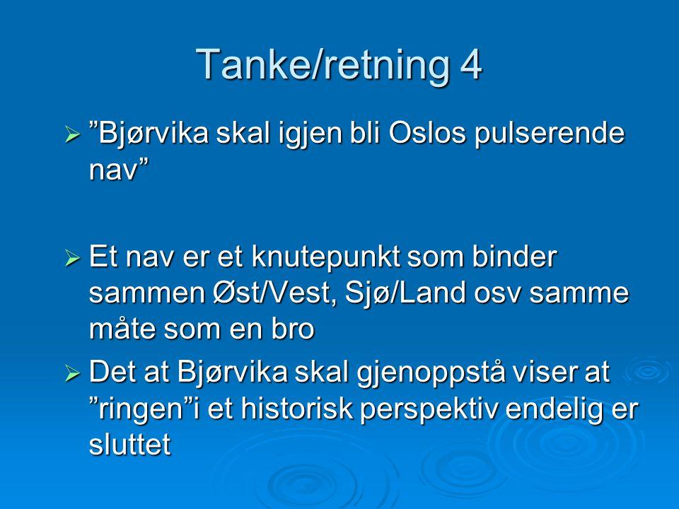 Tanke/retning 4 Bjørvika skal igjen bli Oslos pulserende nav