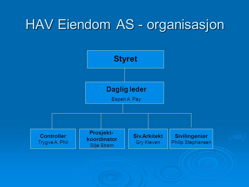 HAV Eiendom AS - organisasjon