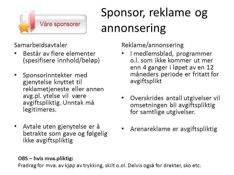 Sponsor, reklame og annonsering
