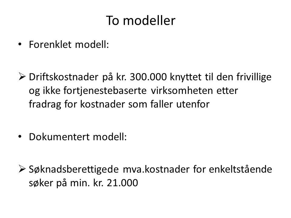 To modeller Forenklet modell: