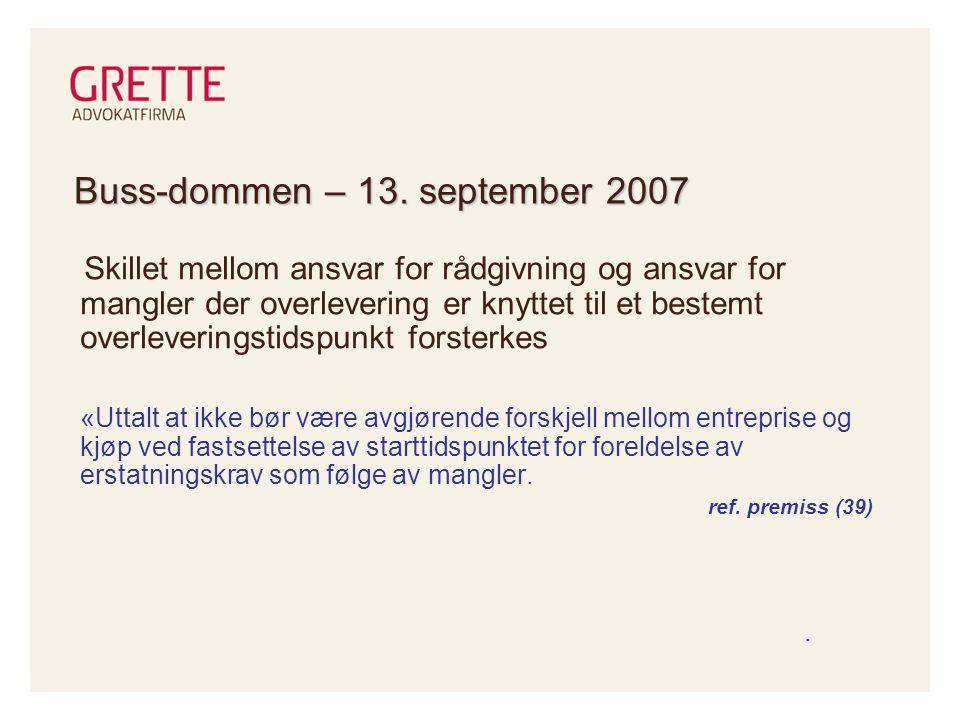Buss-dommen – 13. september 2007
