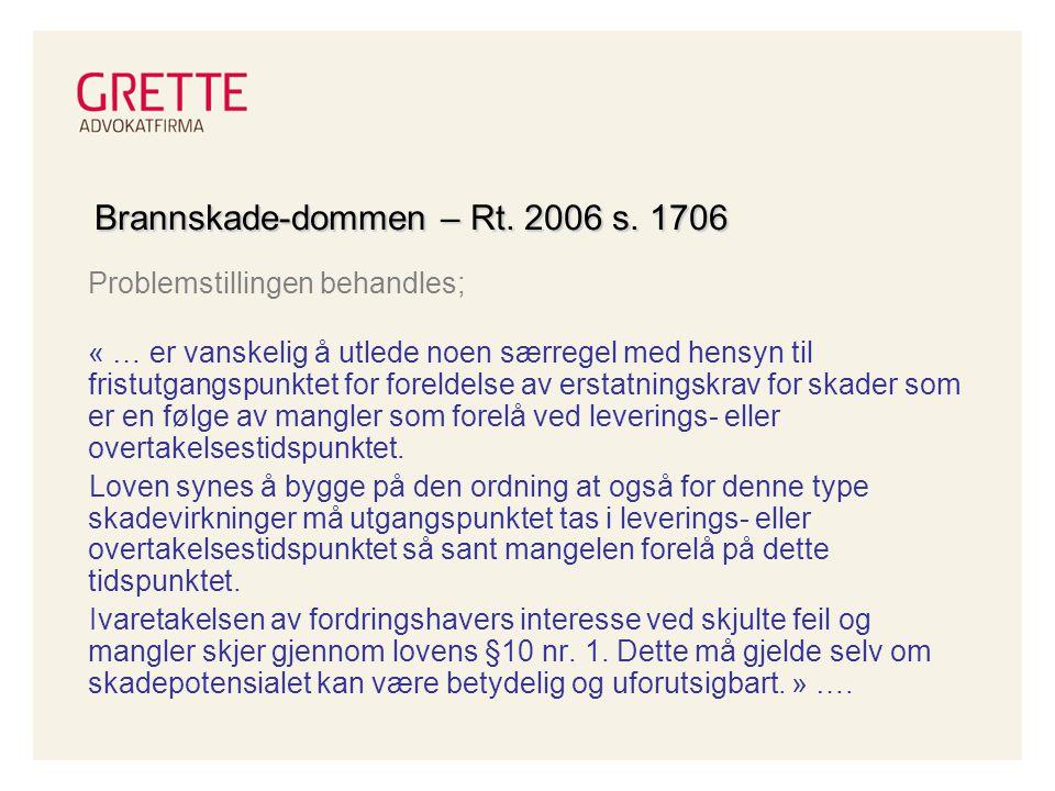 Brannskade-dommen – Rt. 2006 s. 1706