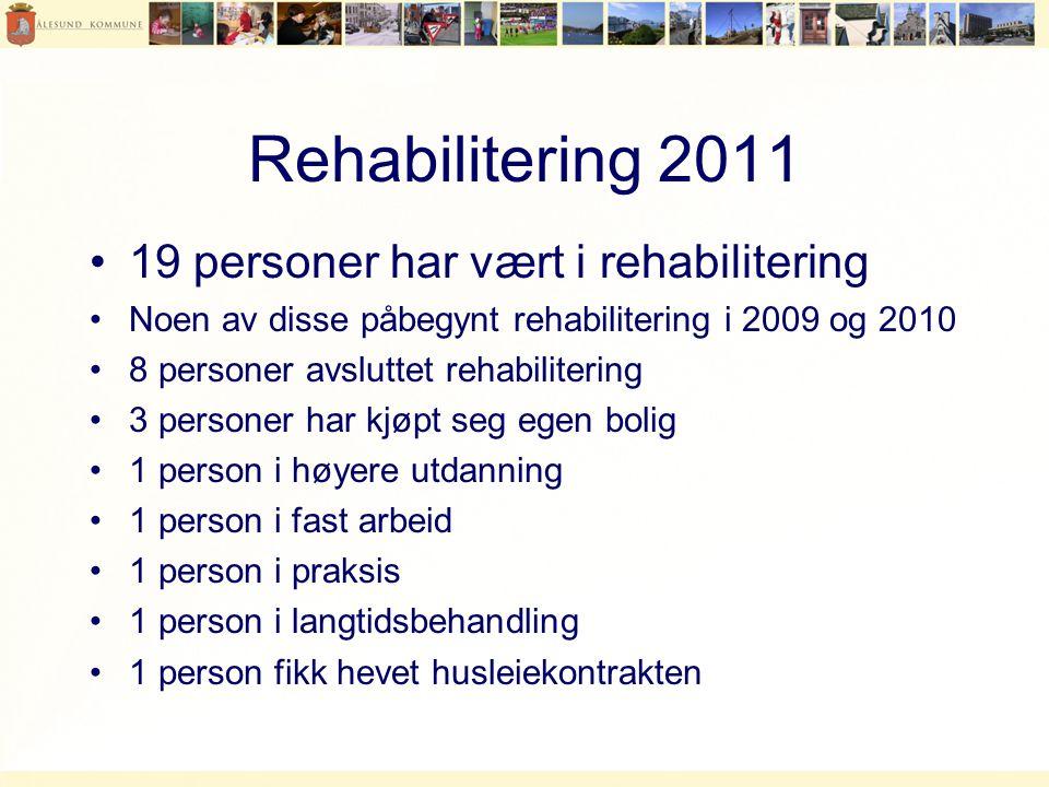 Rehabilitering 2011 19 personer har vært i rehabilitering