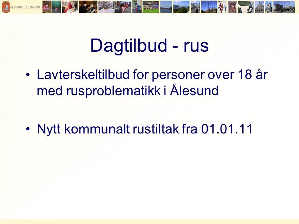 Dagtilbud - rus Lavterskeltilbud for personer over 18 år med rusproblematikk i Ålesund.
