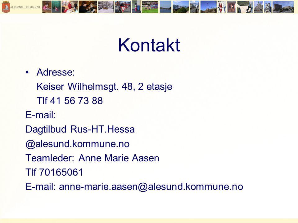 Kontakt Adresse: Keiser Wilhelmsgt. 48, 2 etasje Tlf 41 56 73 88