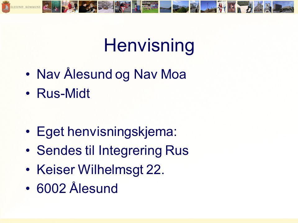 Henvisning Nav Ålesund og Nav Moa Rus-Midt Eget henvisningskjema: