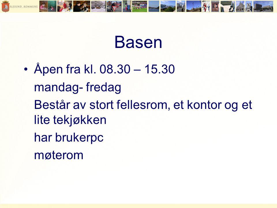 Basen Åpen fra kl. 08.30 – 15.30 mandag- fredag