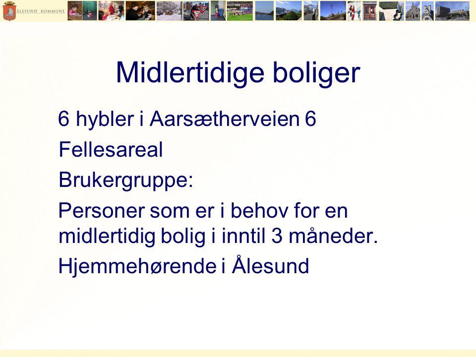 Midlertidige boliger 6 hybler i Aarsætherveien 6 Fellesareal