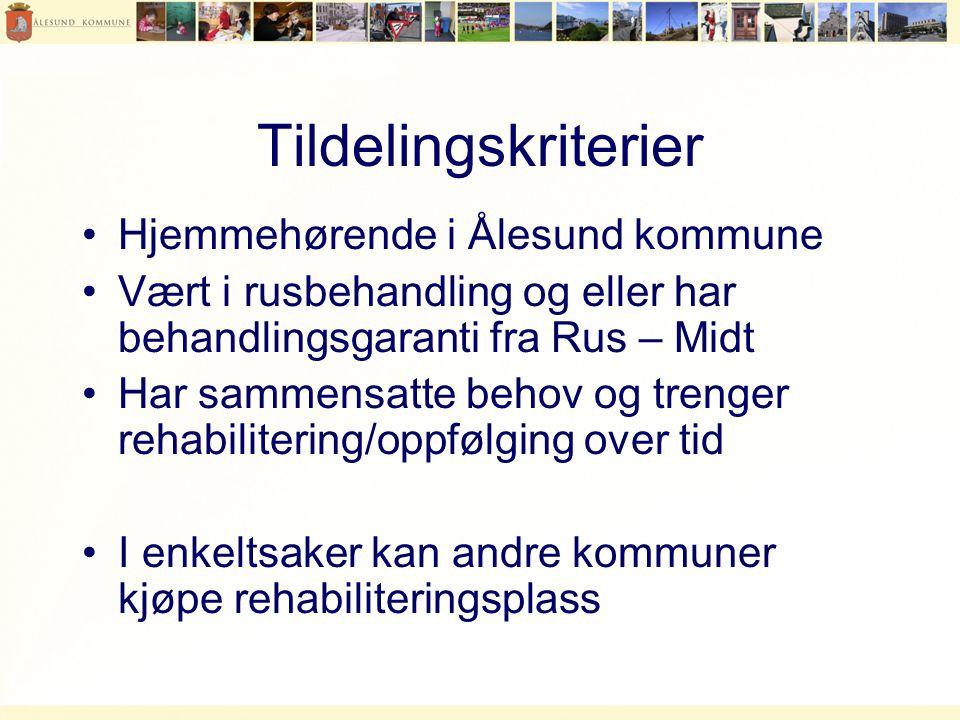 Tildelingskriterier Hjemmehørende i Ålesund kommune