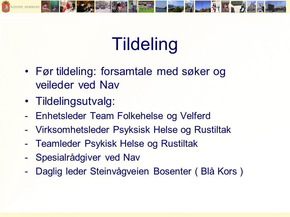 Tildeling Før tildeling: forsamtale med søker og veileder ved Nav