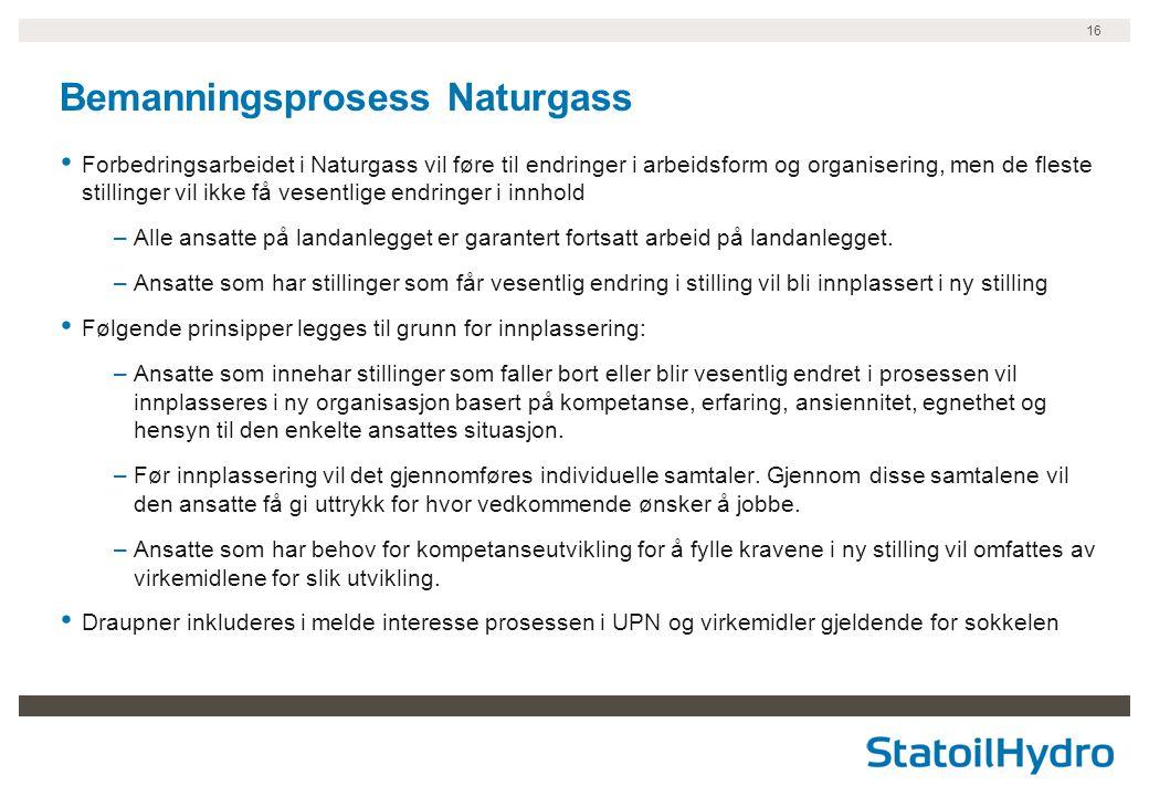Bemanningsprosess Naturgass