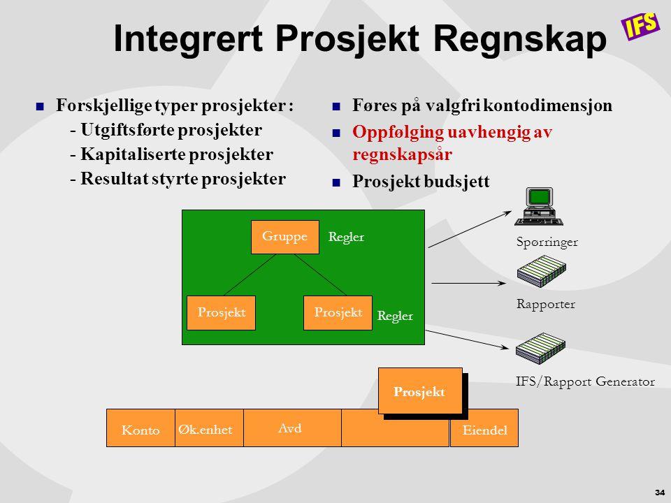 Integrert Prosjekt Regnskap