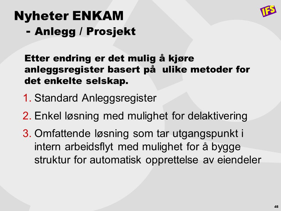 Nyheter ENKAM - Anlegg / Prosjekt