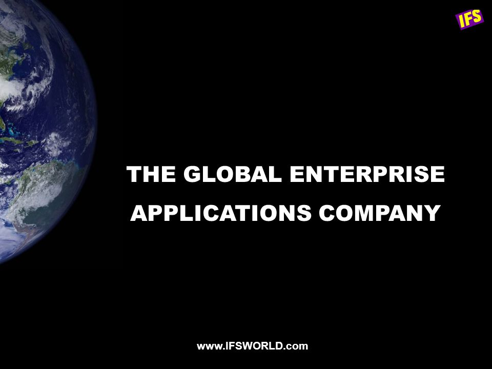 THE GLOBAL ENTERPRISE APPLICATIONS COMPANY