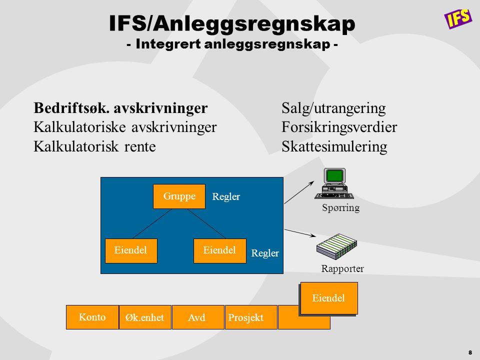 IFS/Anleggsregnskap - Integrert anleggsregnskap -