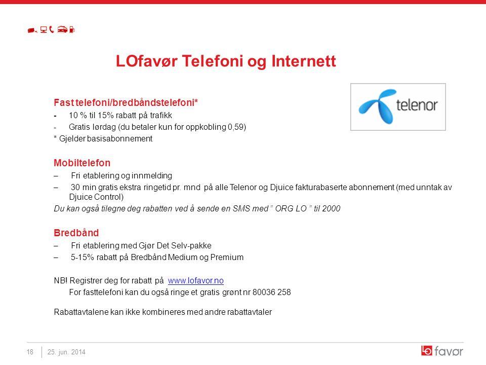 LOfavør Telefoni og Internett