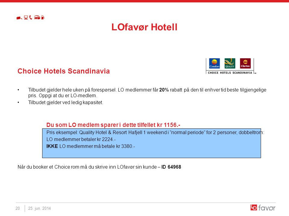LOfavør Hotell Choice Hotels Scandinavia
