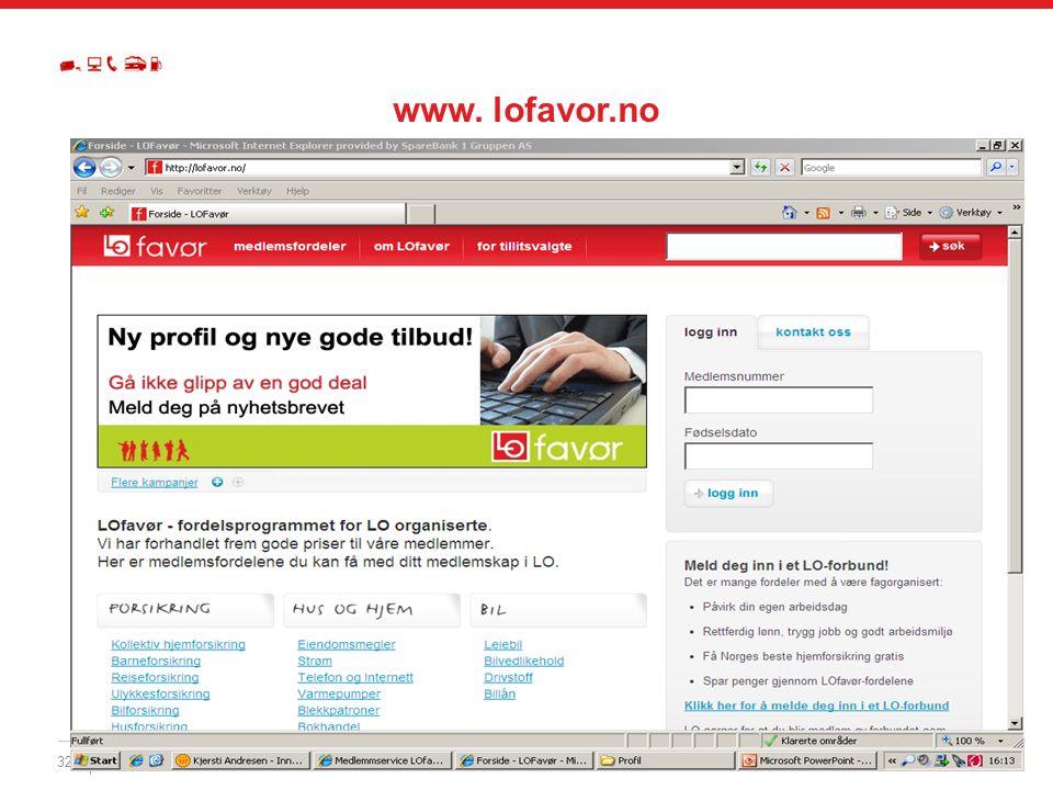 www. lofavor.no Dette er LOfavørs nye hjemmeside