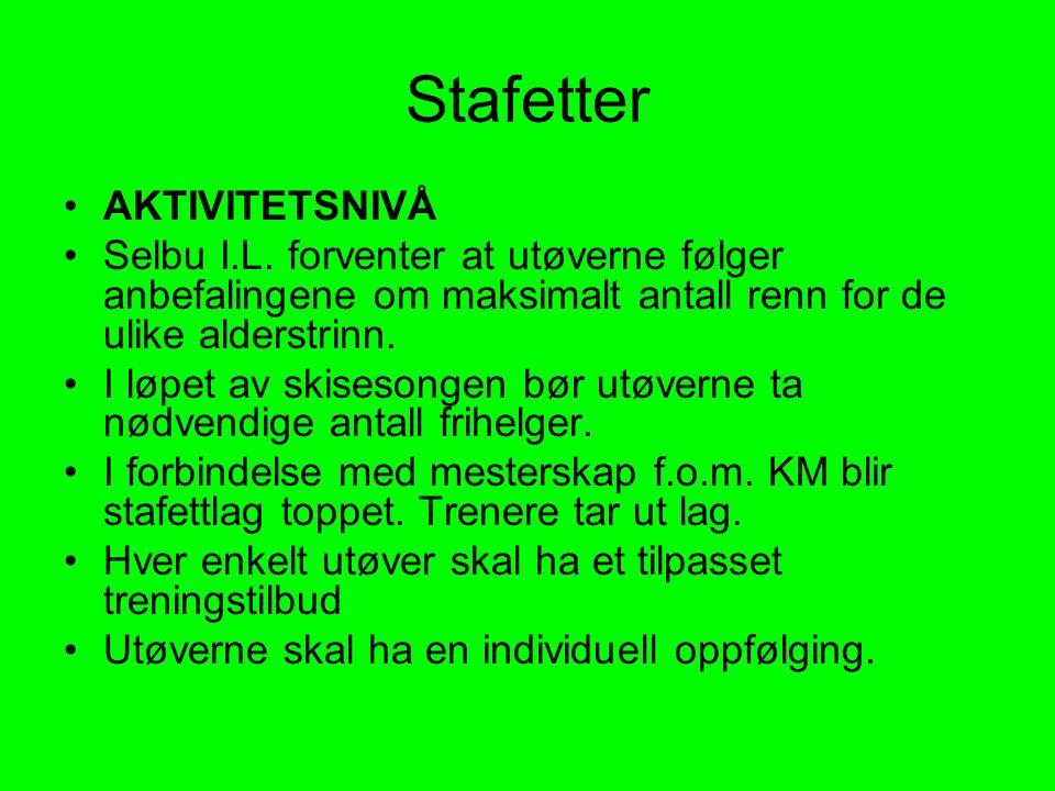 Stafetter AKTIVITETSNIVÅ