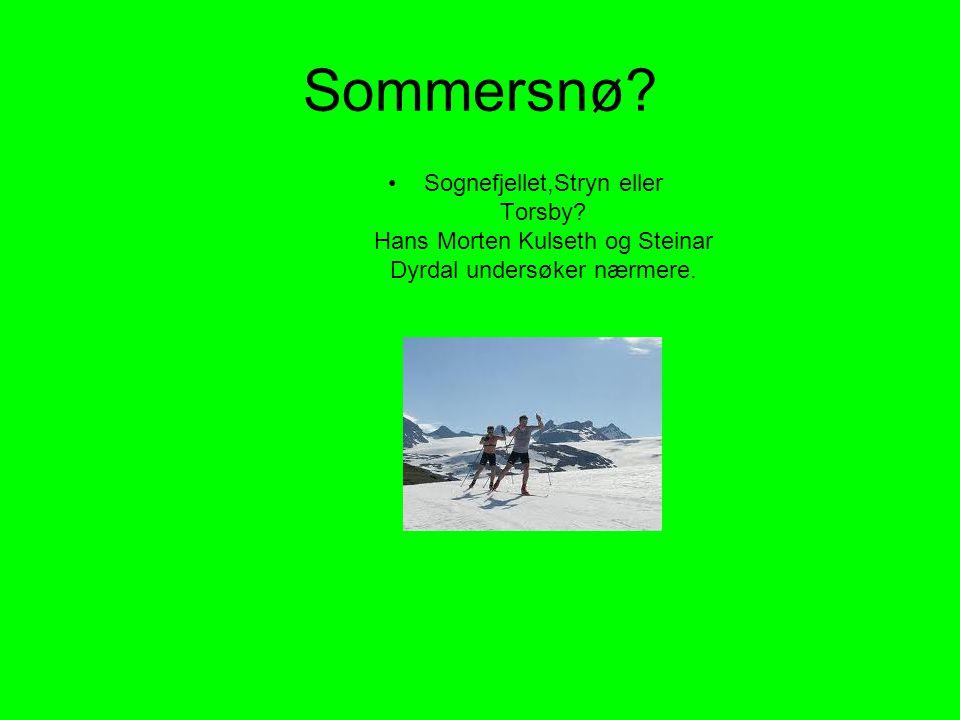 Sommersnø. Sognefjellet,Stryn eller Torsby.