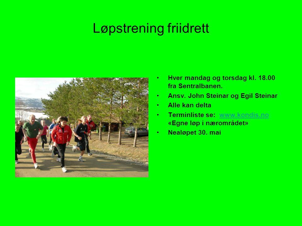 Løpstrening friidrett