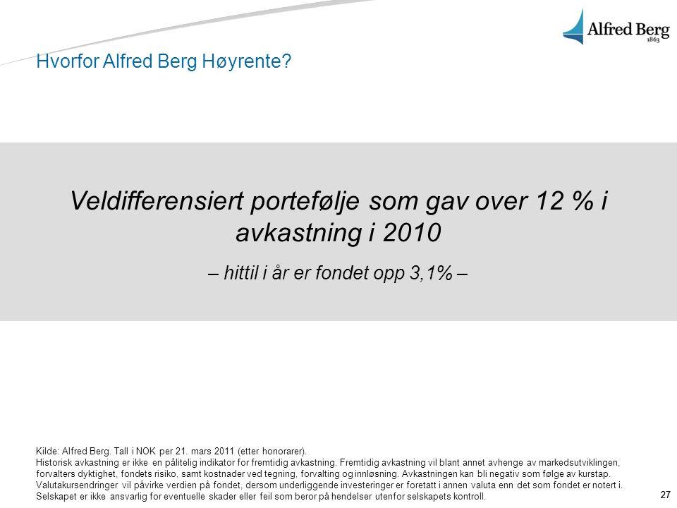 Hvorfor Alfred Berg Høyrente