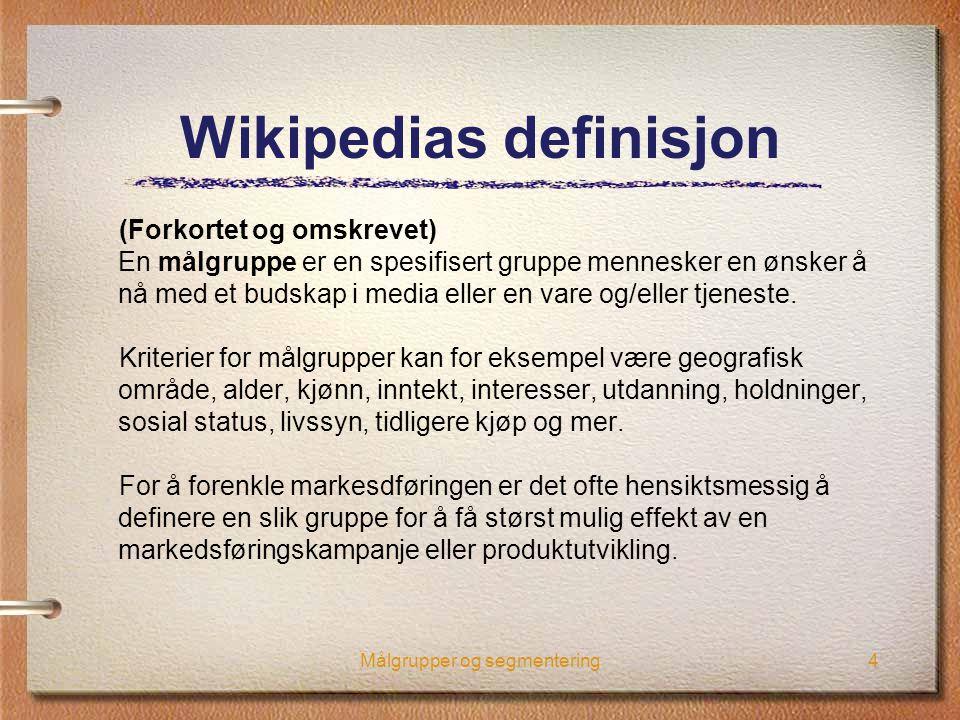Wikipedias definisjon