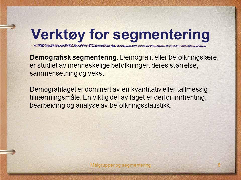 Verktøy for segmentering