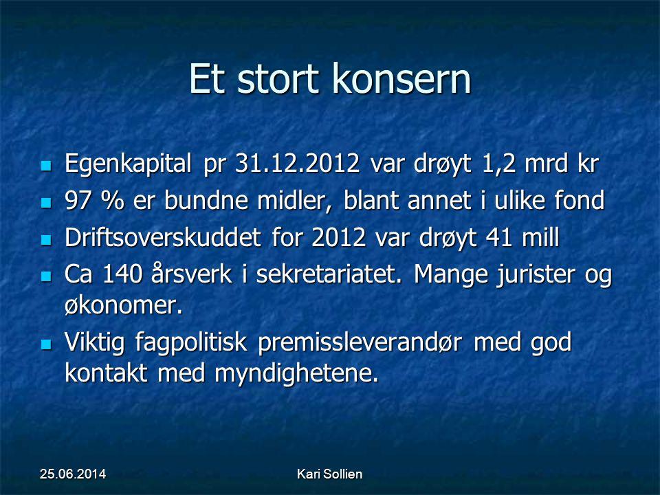 Et stort konsern Egenkapital pr 31.12.2012 var drøyt 1,2 mrd kr