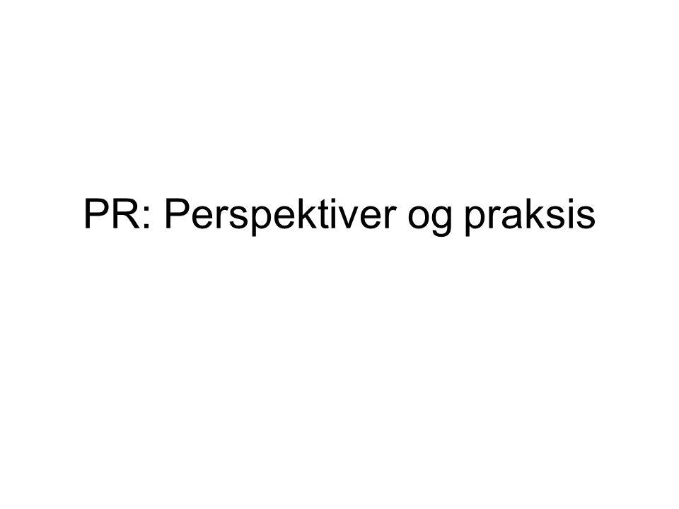 PR: Perspektiver og praksis
