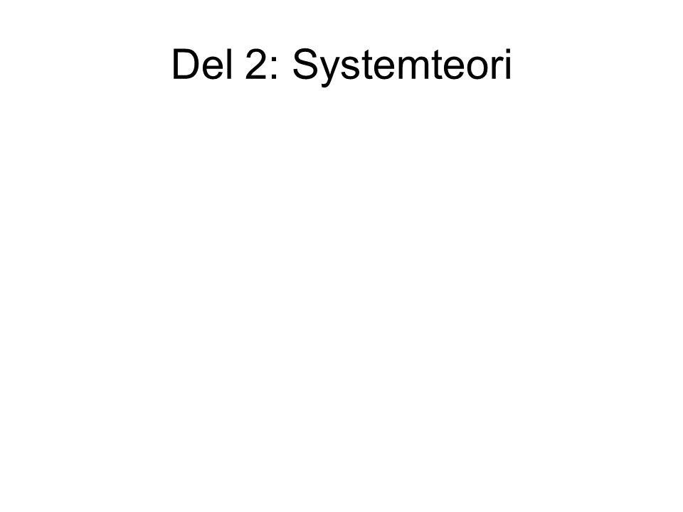 Del 2: Systemteori