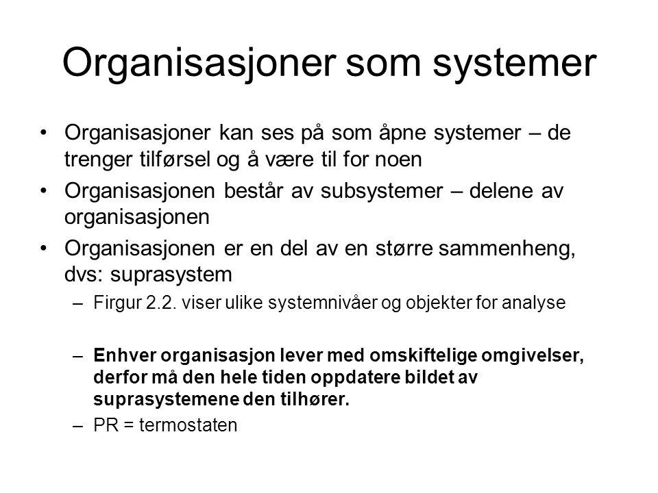 Organisasjoner som systemer