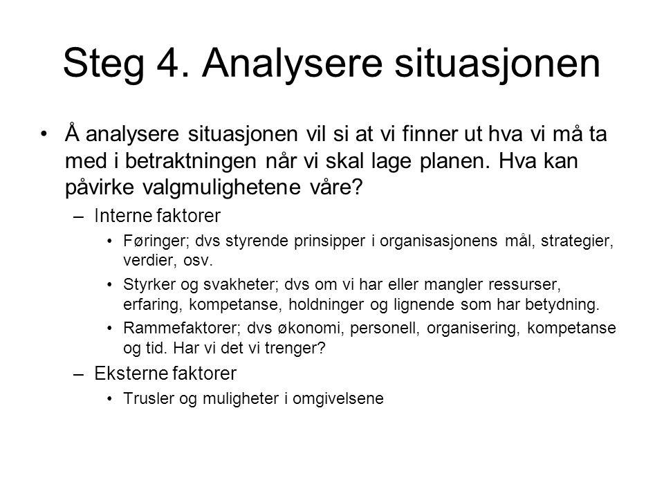 Steg 4. Analysere situasjonen