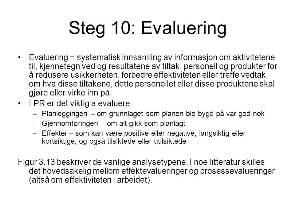 Steg 10: Evaluering