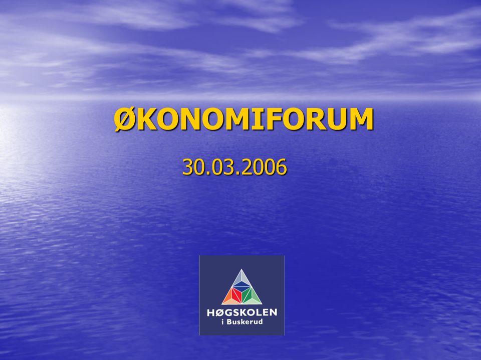 ØKONOMIFORUM 30.03.2006