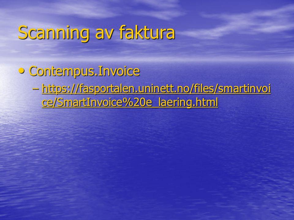 Scanning av faktura Contempus.Invoice